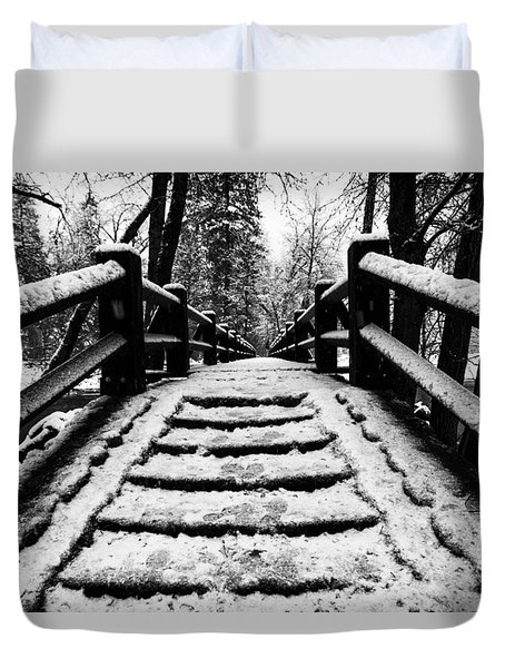 Duvet Cover featuring the photograph Take A Walk With Me by Lora Lee Chapman