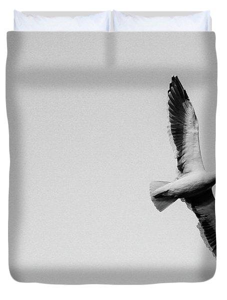 Take Flight, Black And White Duvet Cover