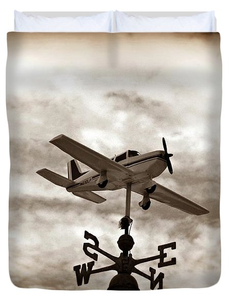 Take Me To The Pilot Duvet Cover by Bill Cannon