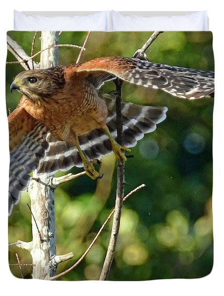 Duvet Cover featuring the photograph Take Off by Don Durfee