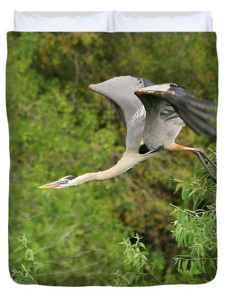 Duvet Cover featuring the photograph Take Off by Shari Jardina