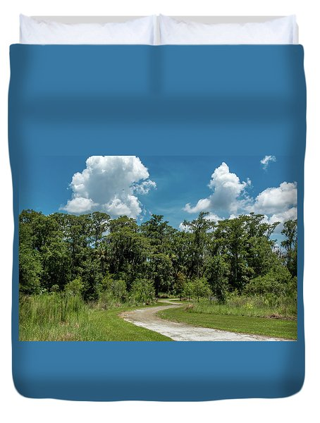 Take The Path Less Traveled Duvet Cover