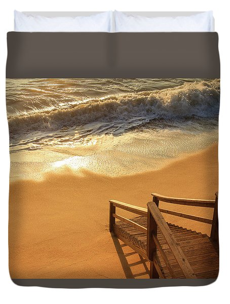 Take The Stairs To The Waves Duvet Cover