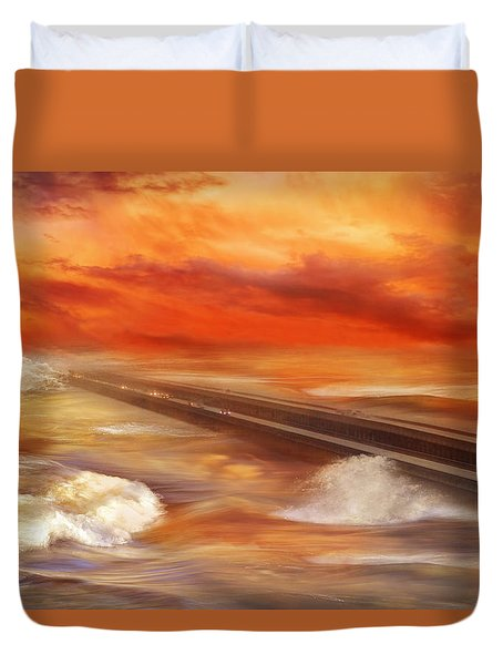 Take The Weather With You Duvet Cover by Iryna Goodall