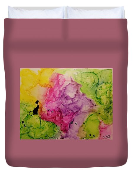 Take Time To Smell The Flowers Duvet Cover