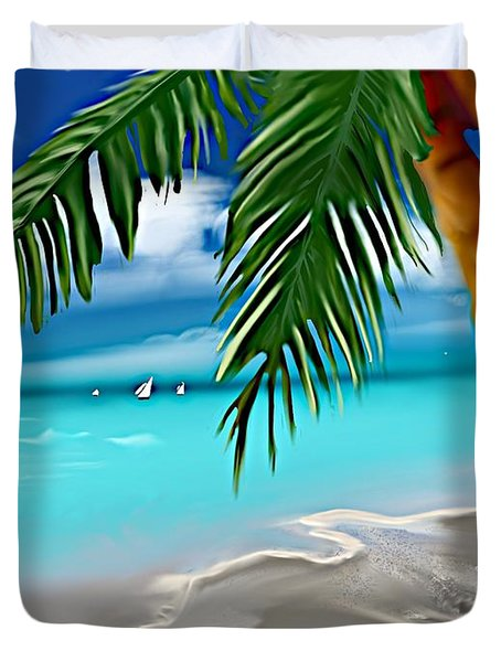 Takemeaway Beach Duvet Cover