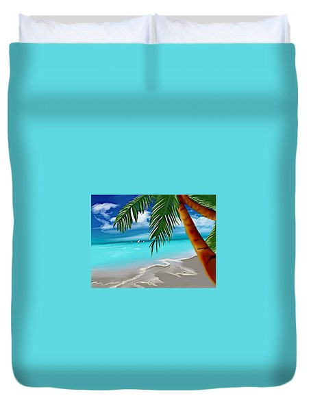 Takemeaway Beach Duvet Cover