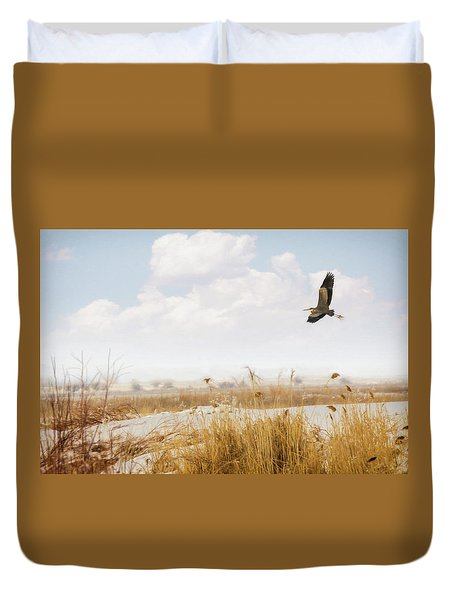 Takeoff Duvet Cover by Priscilla Burgers