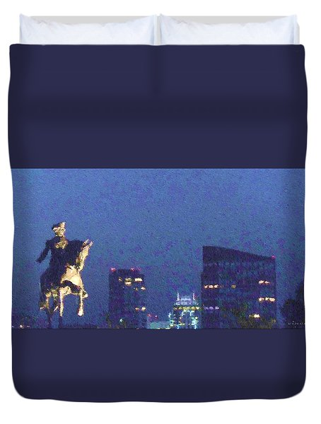 Takin' On Boston Duvet Cover