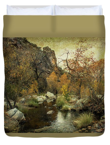 Taking A Hike Duvet Cover by Barbara Manis
