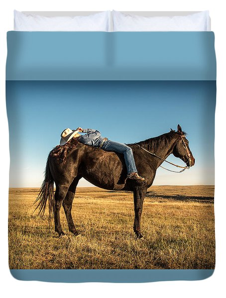 Taking A Snooze Duvet Cover by Todd Klassy