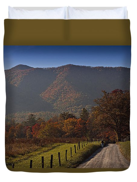 Taking A Walk Down Sparks Lane Duvet Cover