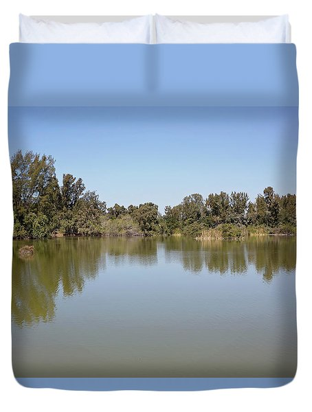 Duvet Cover featuring the photograph Taking A Walk by Kim Hojnacki