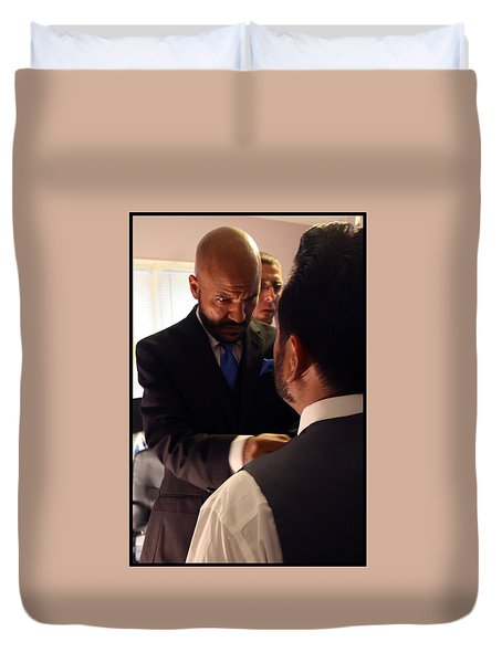 Taking Care Of Business Duvet Cover