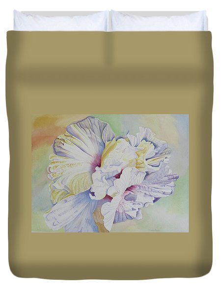 Duvet Cover featuring the painting Taking Flight by Teresa Beyer