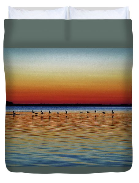Taking Flight Duvet Cover by William Bartholomew