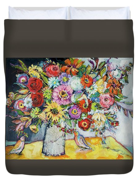 Taking Joy Duvet Cover