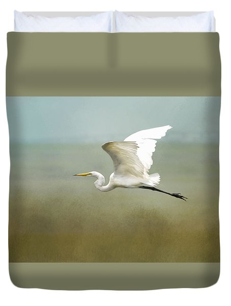 Taking Off  Duvet Cover by Betty Pauwels