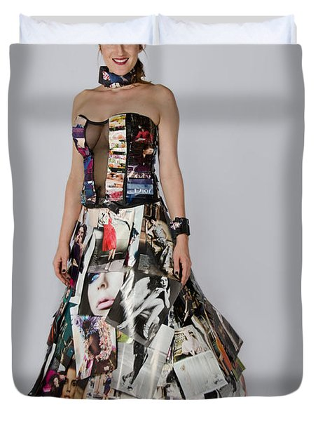 Megan In Gown Duvet Cover