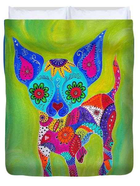 Talavera Chihuahua Duvet Cover