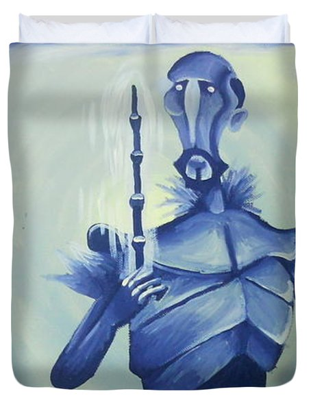 Tale Of The Three Brothers Duvet Cover by Lisa Leeman