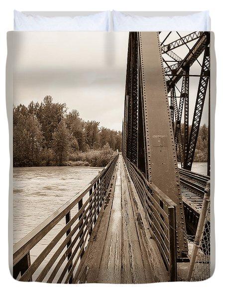 Talkeetna Railroad Bridge Walkway Duvet Cover