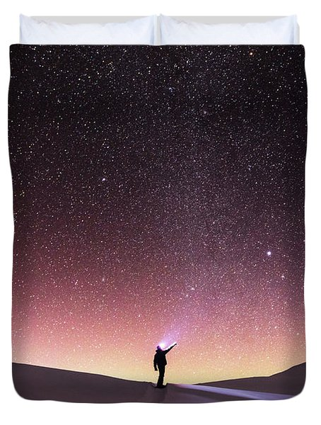Talking To The Stars Duvet Cover by Evgeni Dinev
