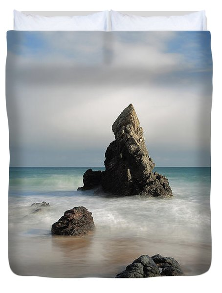 Tall And Proud On Sango Bay Duvet Cover