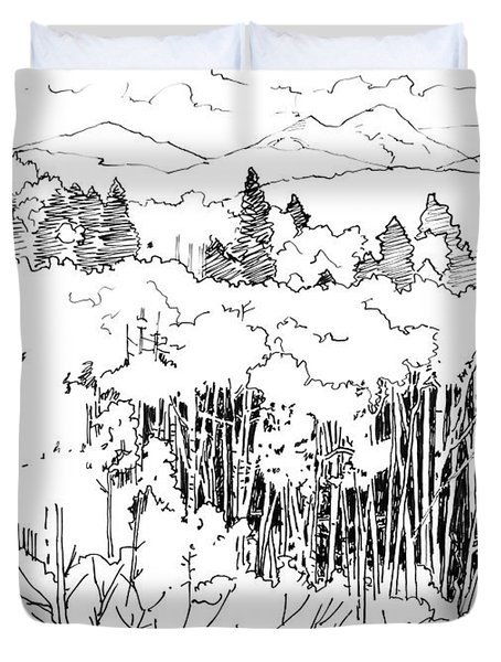 Tall Aspens Rocky Mountains Duvet Cover by John Lautermilch
