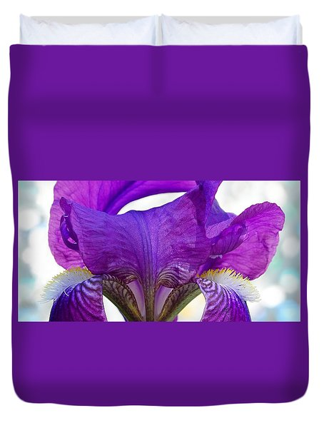 Tall, Bearded And Handsome - Iris Duvet Cover