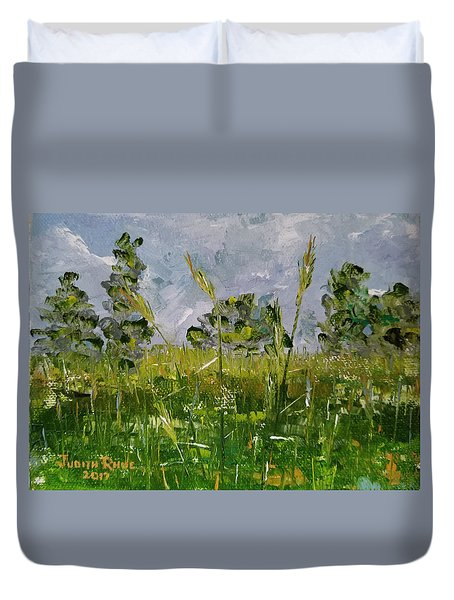 Duvet Cover featuring the painting Tall Grass by Judith Rhue