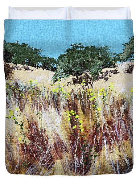 Tall Grass. Late Summer Duvet Cover