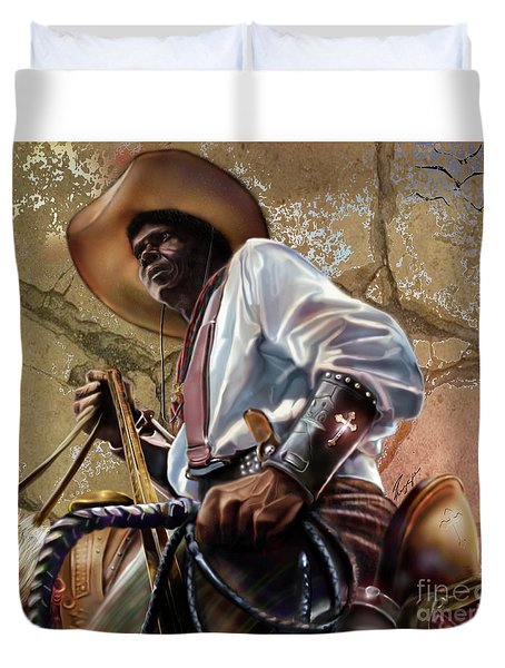 Tall In The Saddle Cowboy Pride 1a Duvet Cover