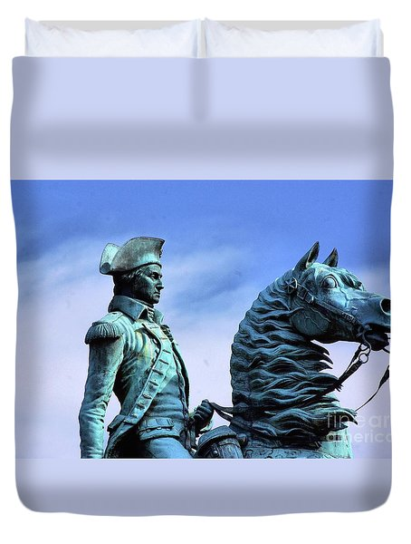 Tall In The Saddle  Duvet Cover