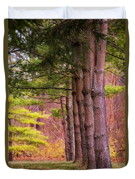 Tall Pines Standing Guard Duvet Cover