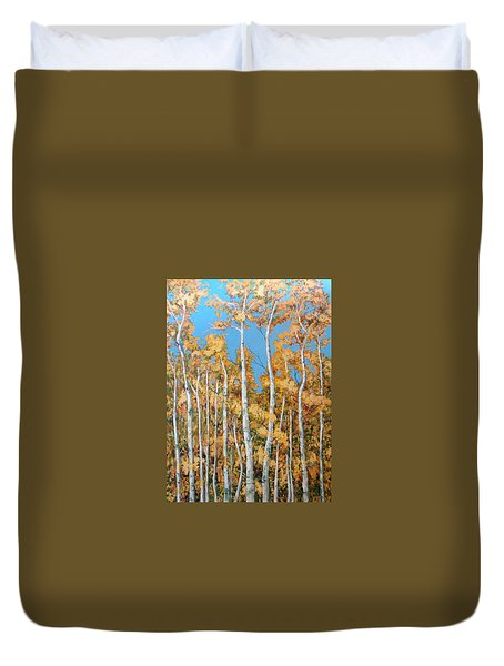 Tall Poplars Duvet Cover