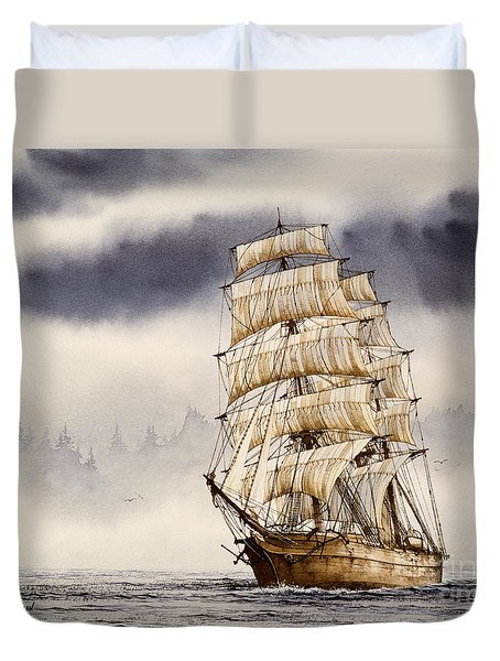 Tall Ship Adventure Duvet Cover by James Williamson