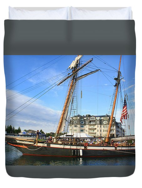 Tall Ship Lynx Duvet Cover