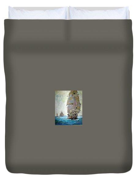 Tall Ships 2 Duvet Cover