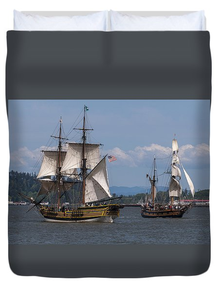 Tall Ships Square Off Duvet Cover