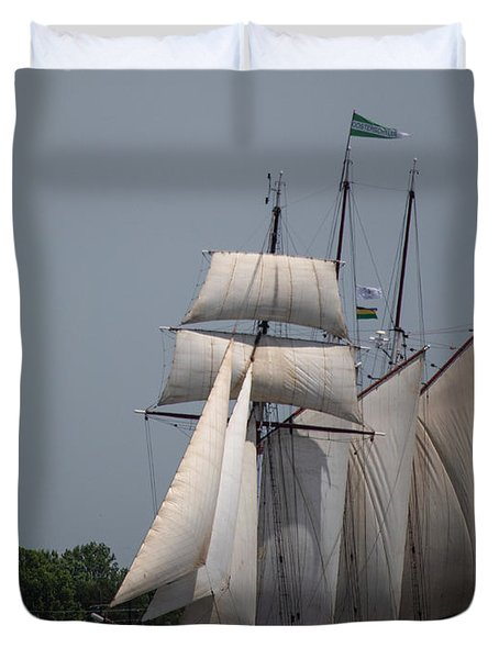 Tall Ships To Nola Duvet Cover