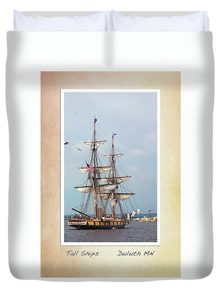 Duvet Cover featuring the photograph Tall Ships V1 by Heidi Hermes