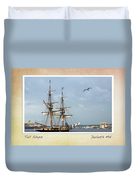 Duvet Cover featuring the photograph Tall Ships V3 by Heidi Hermes