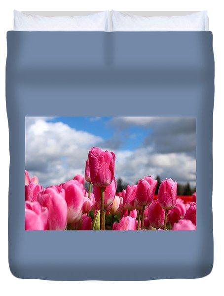Tall Standing Tulip Duvet Cover
