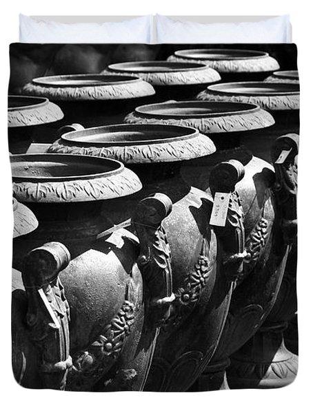 Tall Urns Duvet Cover by Teresa Mucha
