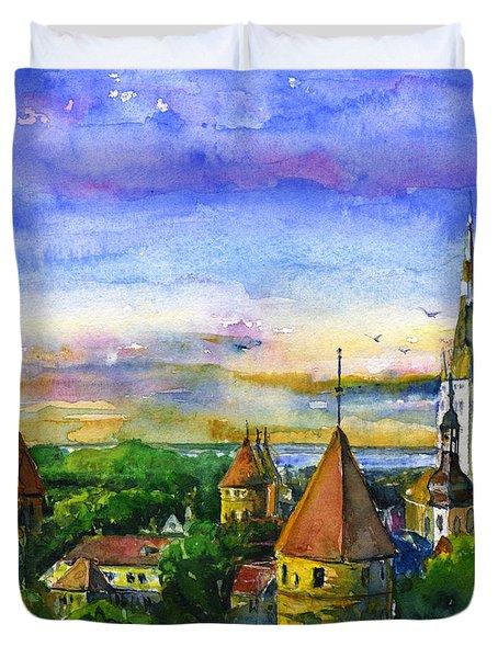 Tallinn Estonia Duvet Cover