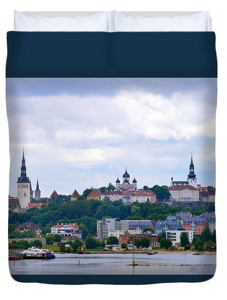 Tallinn Estonia. Duvet Cover