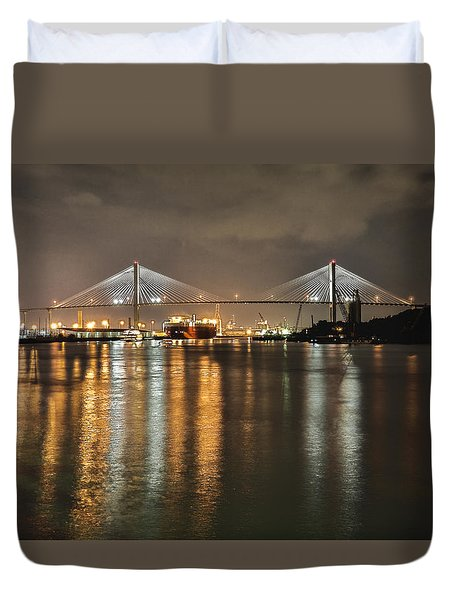 Talmadge Memorial Bridge Duvet Cover