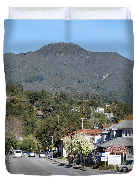 Tamalpais From Mill Valley Duvet Cover