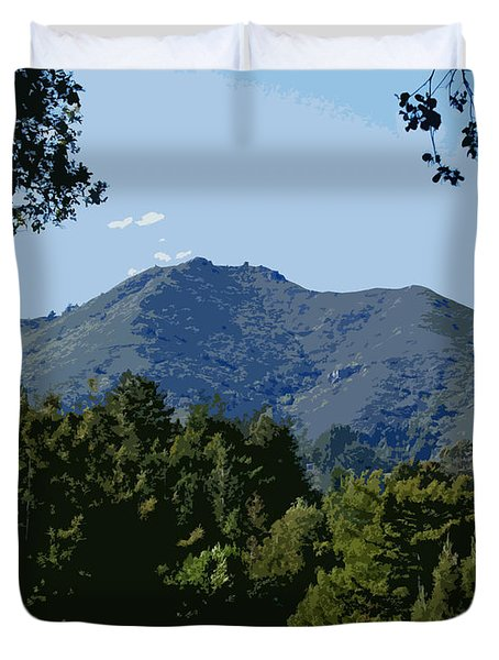 Tamalpais...the Sleeping Princess Duvet Cover